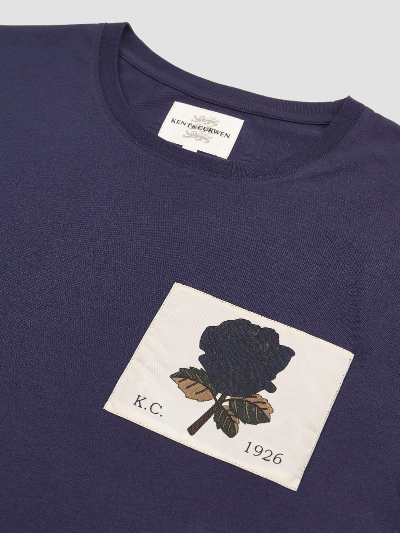 Woven Rose Patch T-Shirt