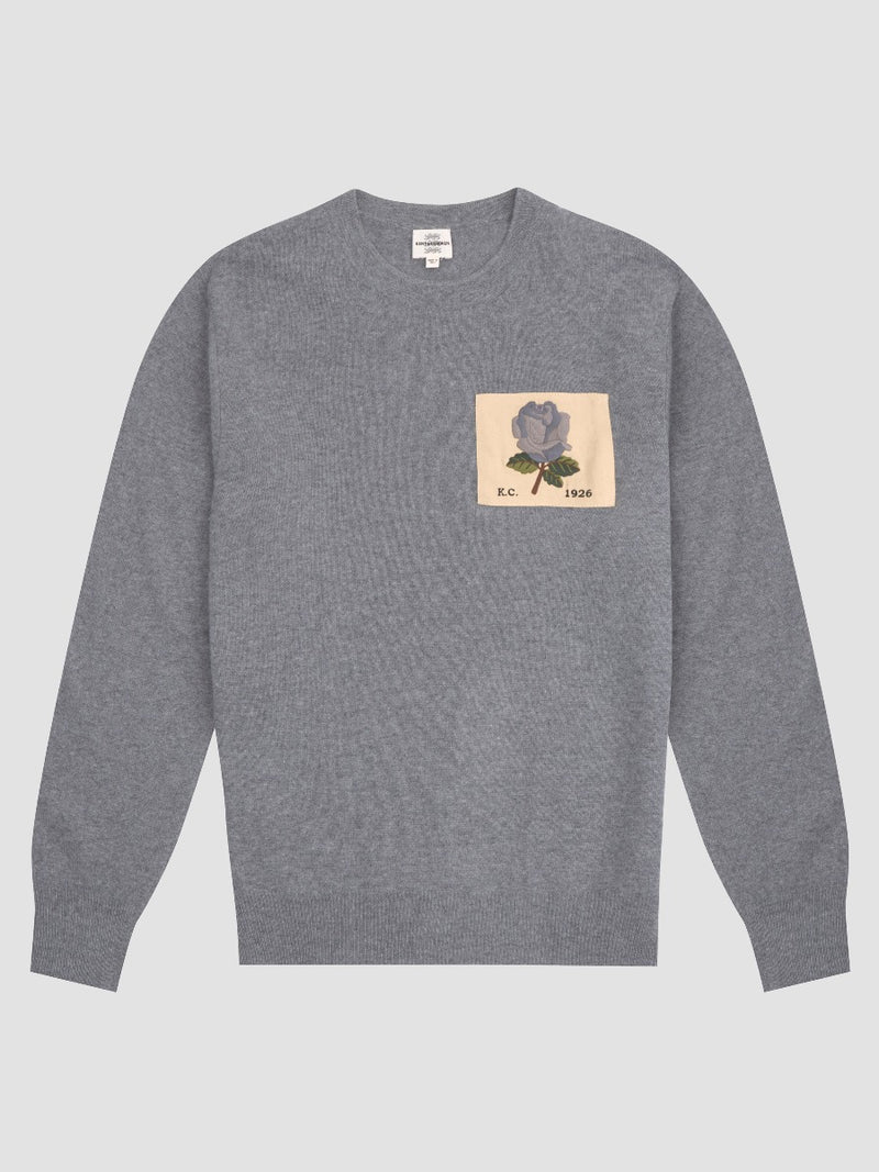 Cashmere Blend Rose Patch Sweater