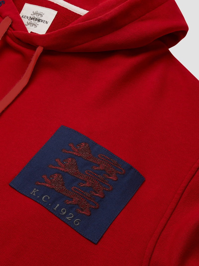 Three Lions Embroidered Patch Hoodie