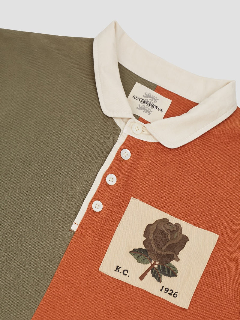Two-Tone Rose Embroidered Rugby