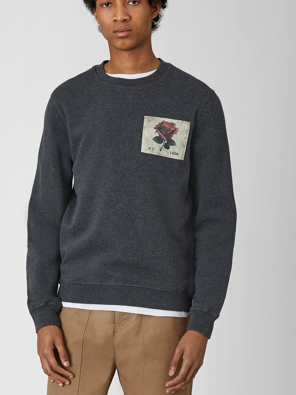 Photographic Rose Sweatshirt