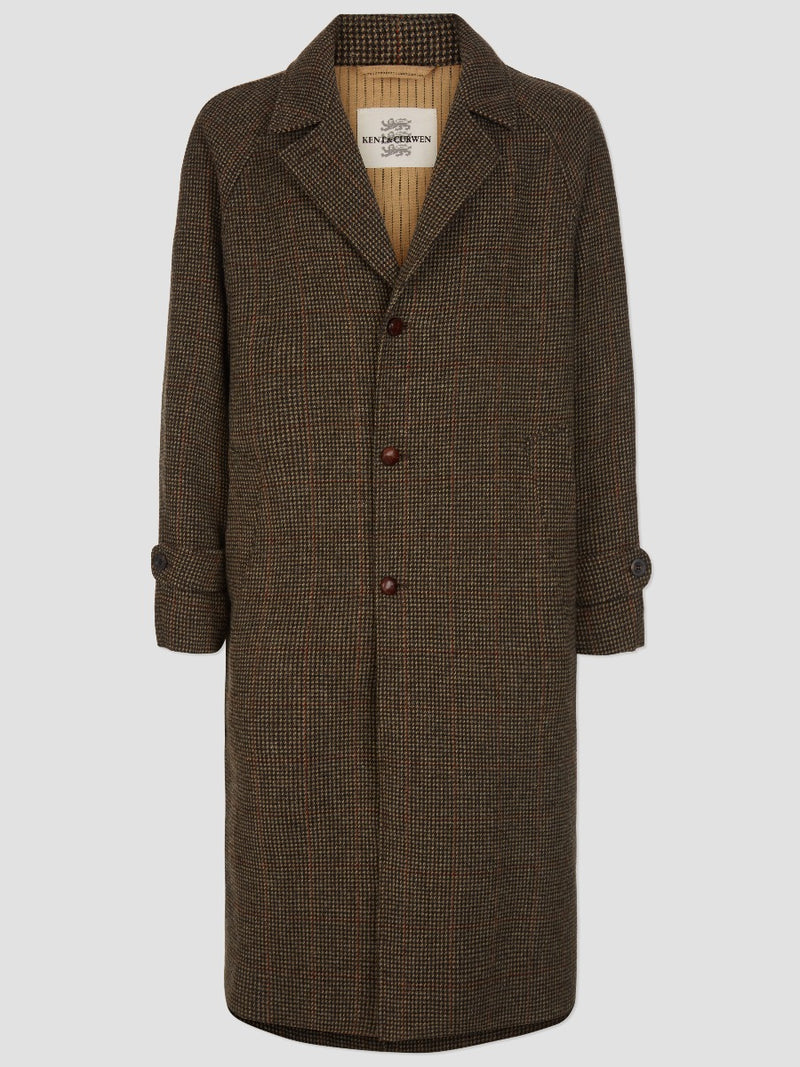 TWEED RAGLAN SLEEVE OVERCOAT
