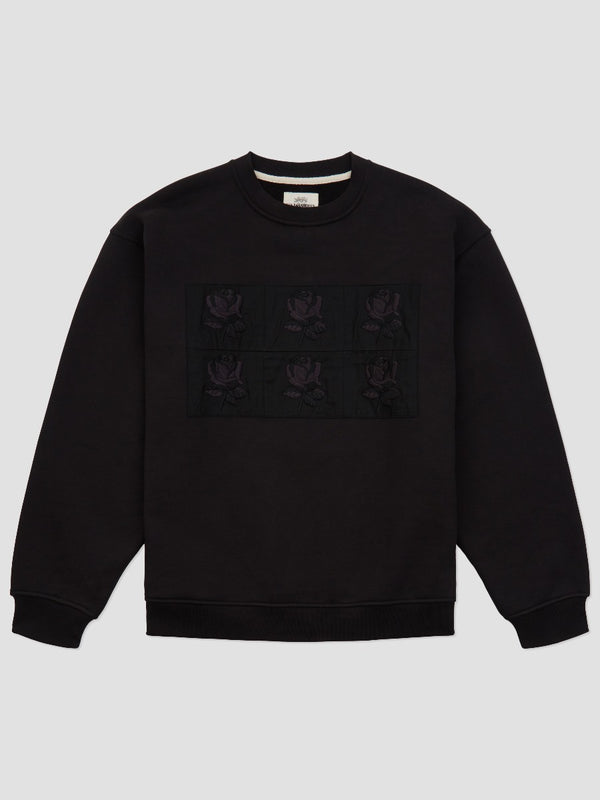 OVERSIZED MULTI ROSE PATCH SWEATSHIRT