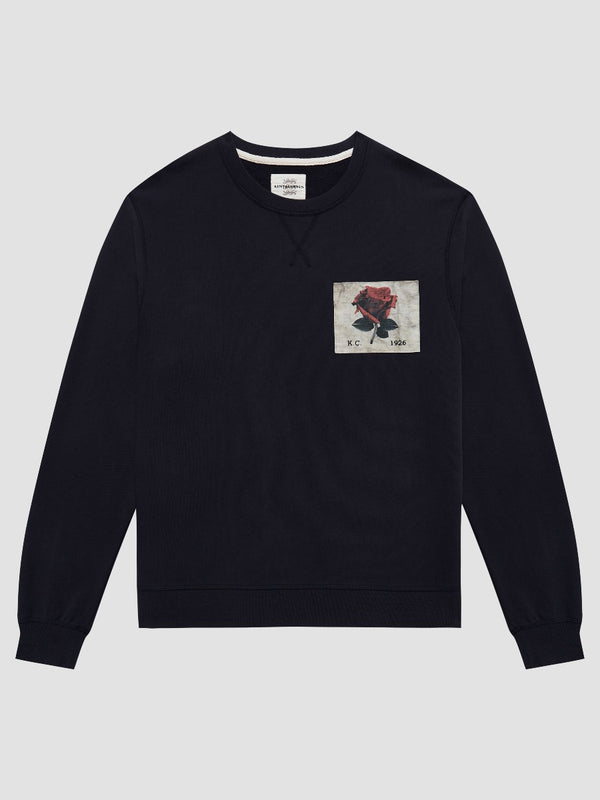 PHOTO ROSE PATCH BLACK SWEATSHIRT