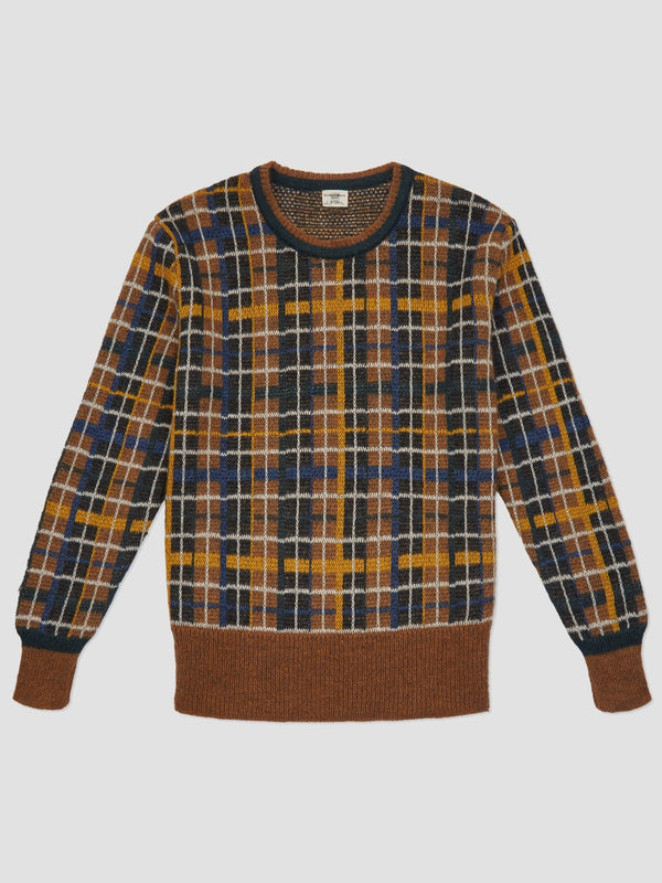 Mohair Checked Sweater
