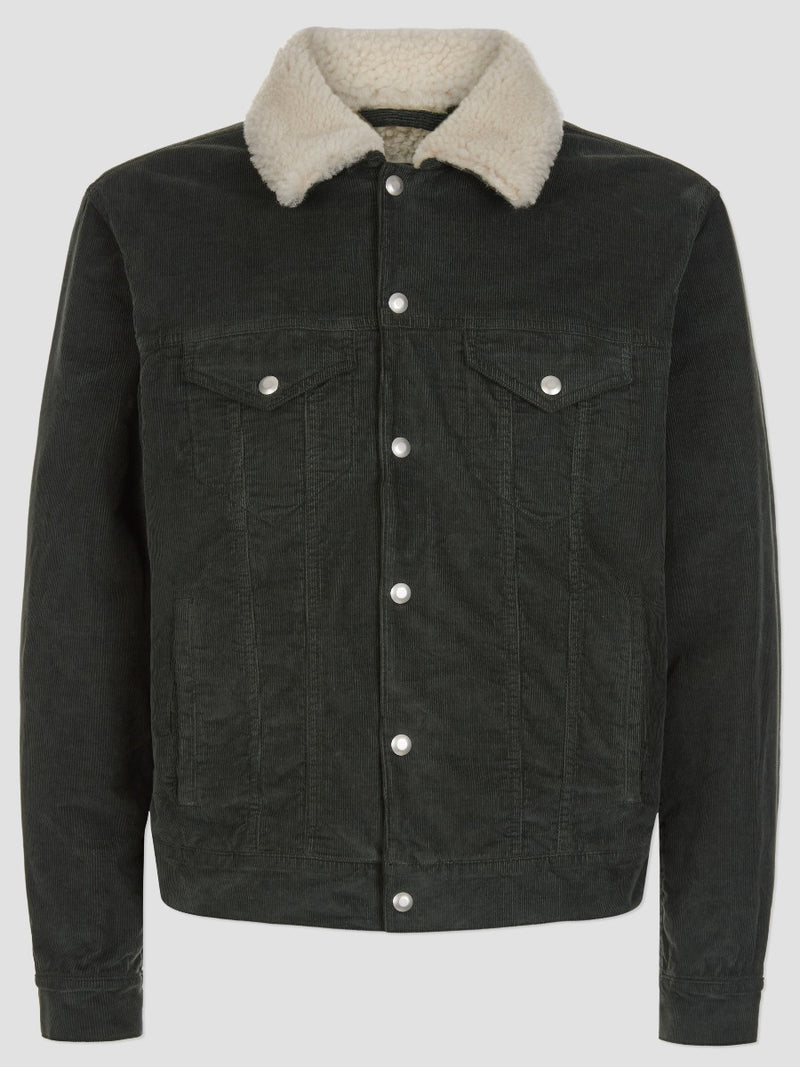 Shearling Lined Cord Trucker