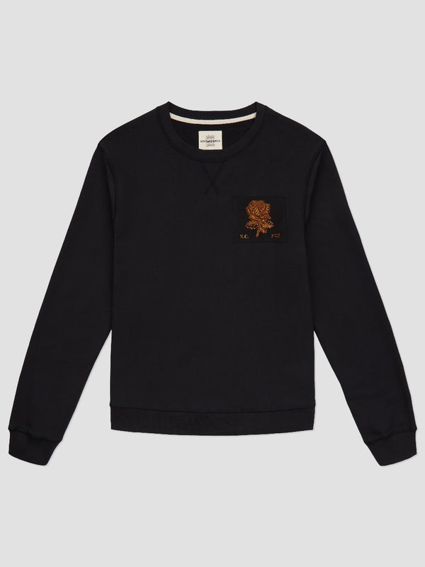 Bullion Rose Patch Sweatshirt