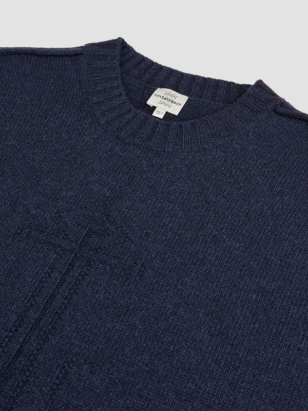 Intarsia Anchor Detail Crewneck