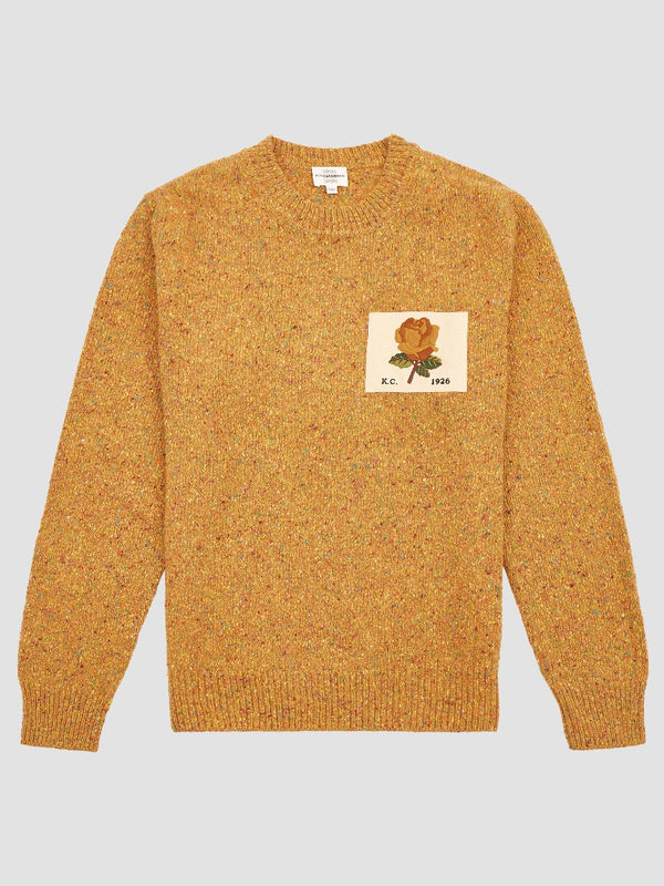 MÉLANGE ROSE PATCH SWEATER