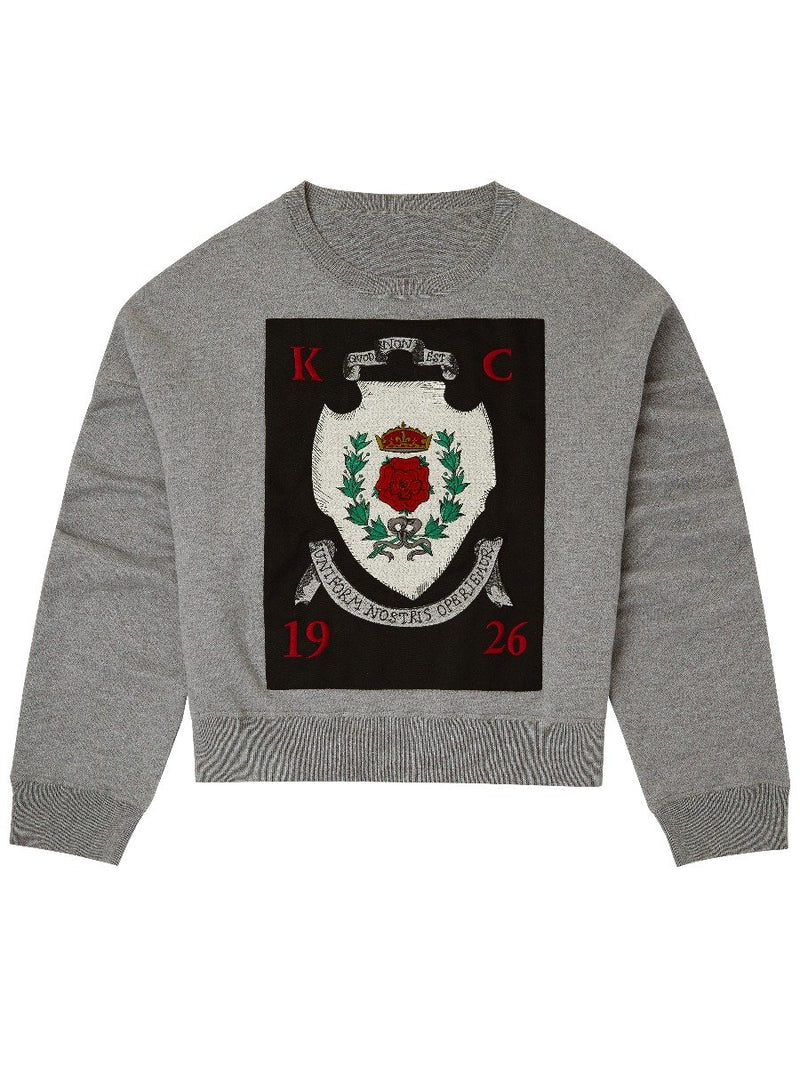 Crest Embroidered Sweater