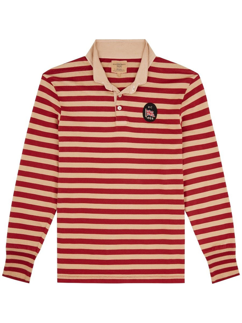 Hoop Striped Rugby Shirt
