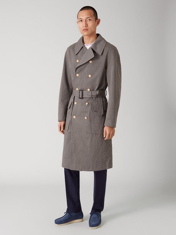 Three Lions Backed Belted Greatcoat