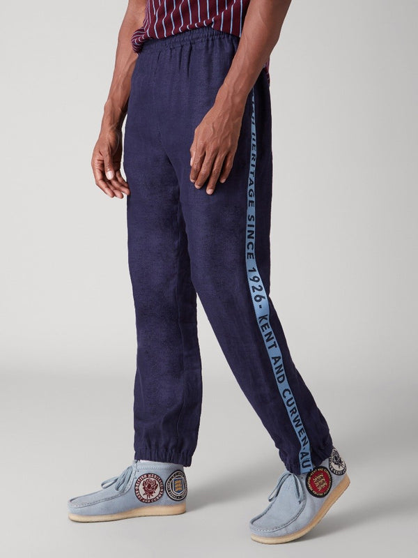 Branded Tape Linen Trousers