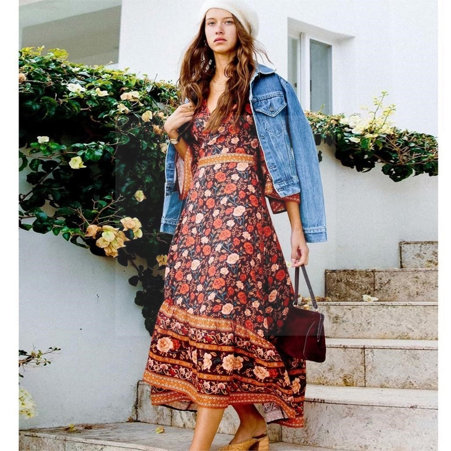 Boho robe dress de qualite