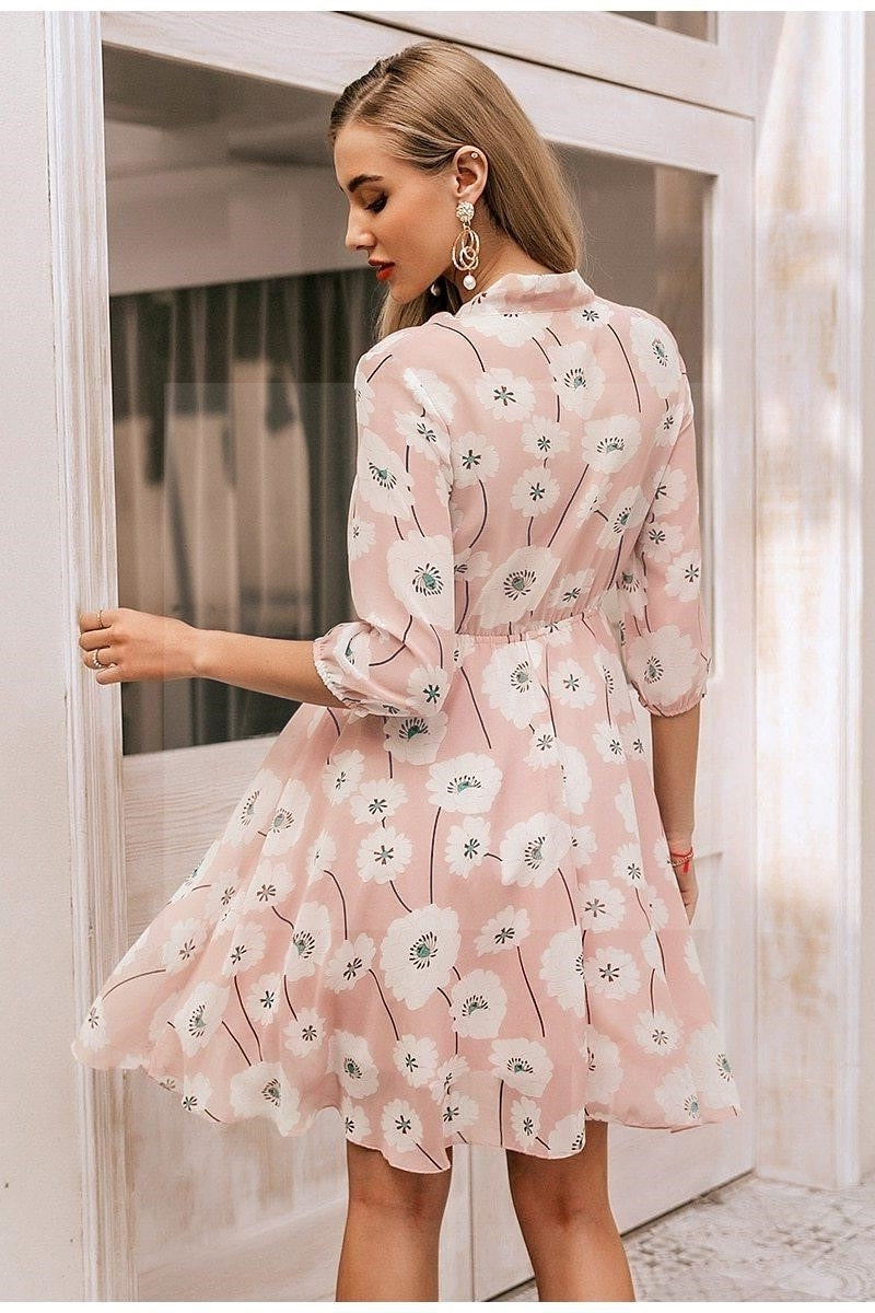 Robe boheme chic rose pale style