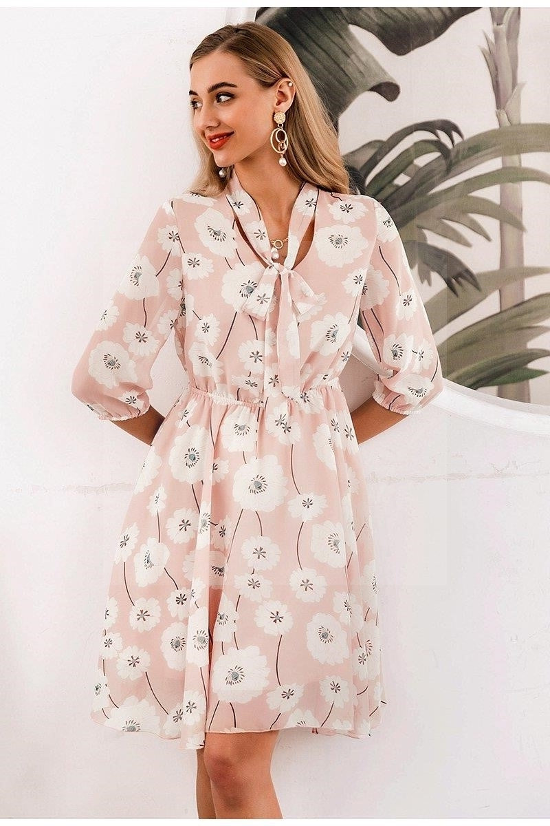 Robe boheme chic rose pale 2020