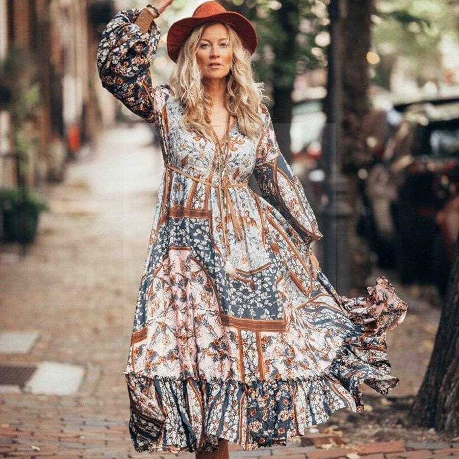 Robe ethnique hippie chic hippie