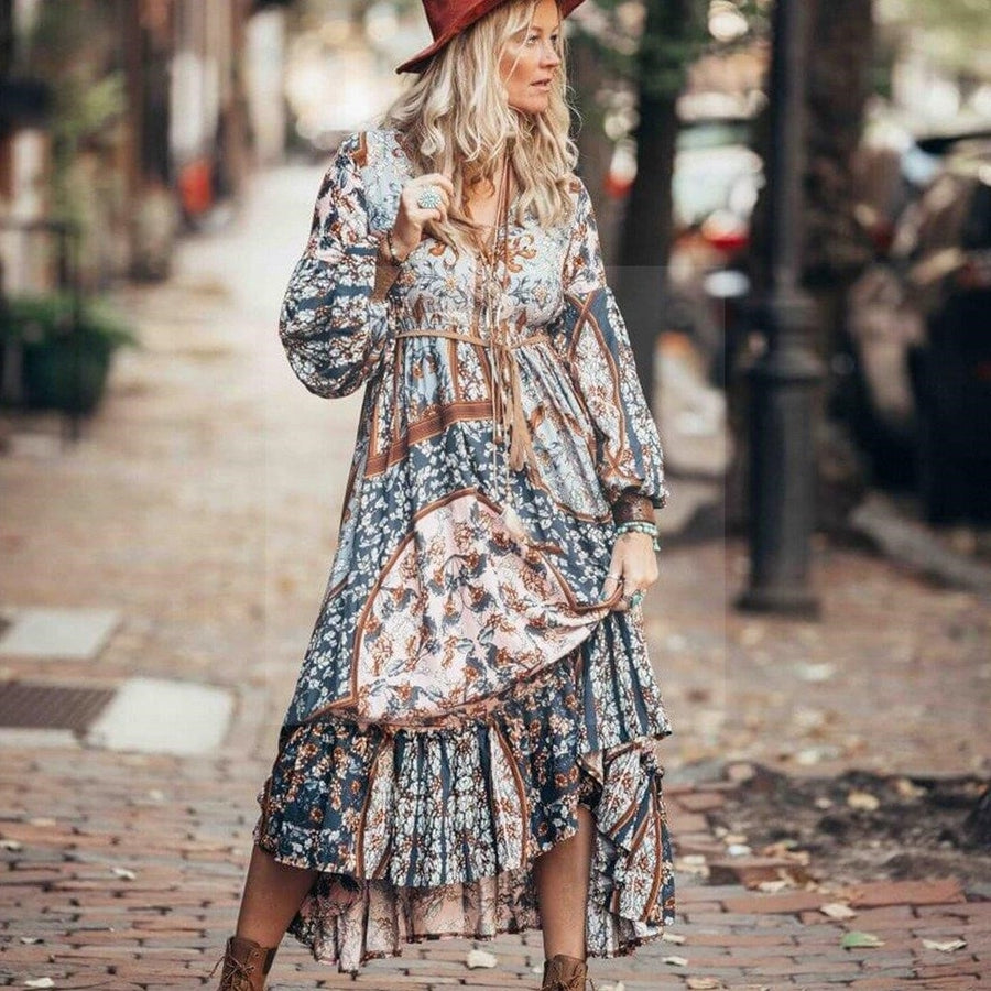 Robe ethnique hippie chic boho chic