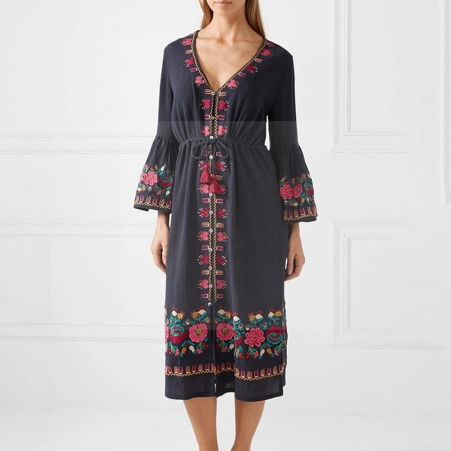 Robe hippie chic hiver mode