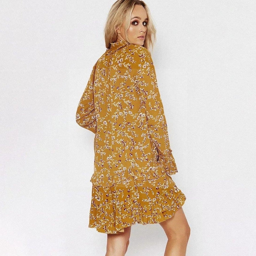 Robe hippie chic jaune star