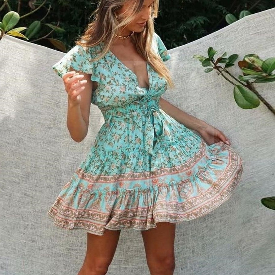 Robe it hippie bleu Charmante