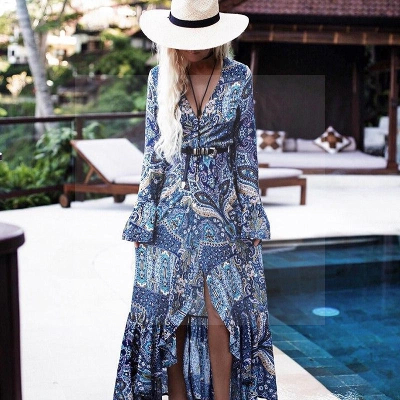 Robe style boho hippie chic mode