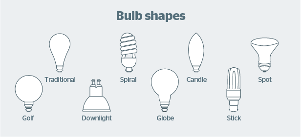 Introducing Typical Bulb Shapes and Sizes
