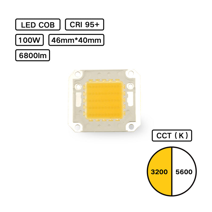 YUJILEDS® High CRI 95+ COB LED - 400H - 100W - Pack: 2pcs