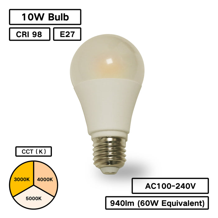 YUJILEDS High CRI BC Series A60 Remote Phosphor LED Bulb for Retail Lighting- Pack: 4 pcs