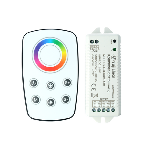 YujiElecs™ Remote Control Dimmer Kit for RGB/RGBW LED Strips - Pack: 1pcs