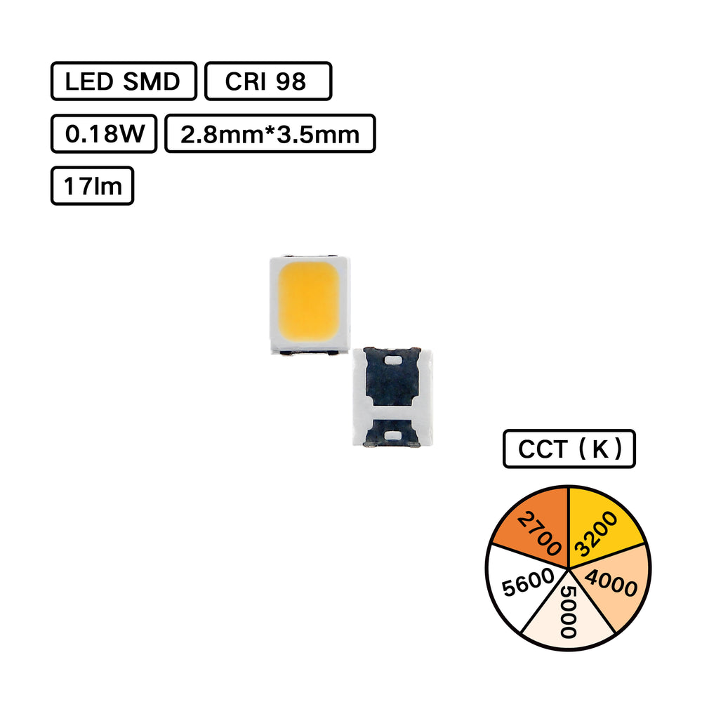 Full Spectrum CRI 98 2835 LED SMD