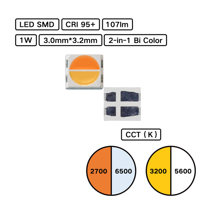 3032 2-in-1 Bicolor LED SMD