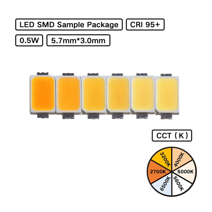 5730 LED SMDs with various CCTs