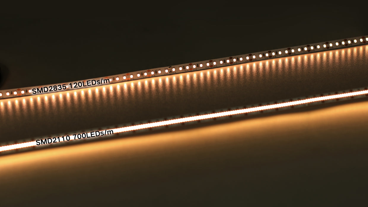YUJILEDS® High CRI 95+ 2110 LED Flex Strip 24V - 700 LEDs/meter - Pack: 16.4ft /5m Reel