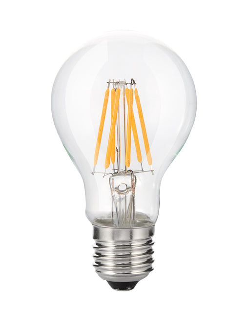 YUJILEDS High CRI 95 A19 LED Filament Bulb E27/E26 8W- warm white for Retail Lighting - 45 Watt Equivalent