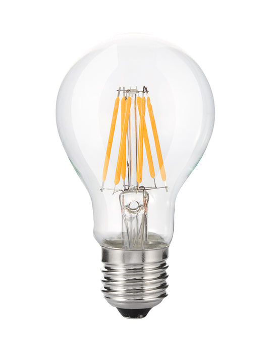 YUJILEDS® High CRI 95+ A19 LED Filament Bulb E27/E26 8W- Warm White for Retail Lighting - Pack: 5pcs
