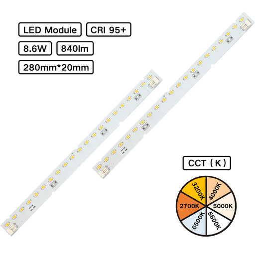 YUJILEDS® High CRI 95+ MCPCB LED Module - Pack: 10pcs