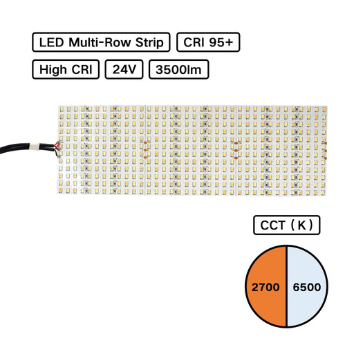 BC Series High CRI LED Multirow Hybrid Color Temperature LED Flexible Strip - Pack: 1 pcs