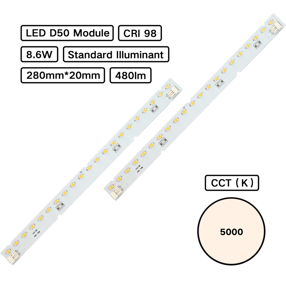 YUJILED® Standard Illuminant CRI 98 D50 5000K MCPCB LED Module (ISO 3664:2000) for Jewelry Lighting