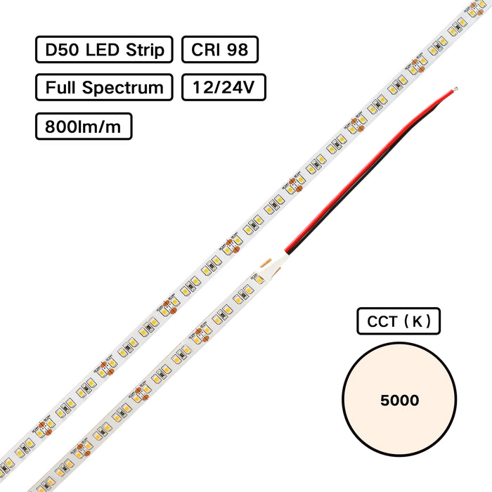 Full Spectrum High CRI 98 LED Flexible Strip – Gallery Museum Lighting