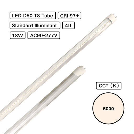 Standard Illuminant CRI 98 D50 5000K T8 LED Tube Basic (ISO3664:2000) for Jewelry Lighting