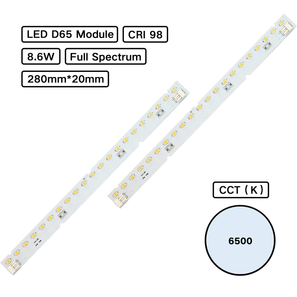 Full Spectrum CRI 98 D65 MCPCB LED Module for Jewelry Lighting