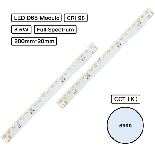 YUJILEDS® Full Spectrum CRI 98 D65 6500K MCPCB LED Module for Jewelry Lighting - Pack: 10pcs