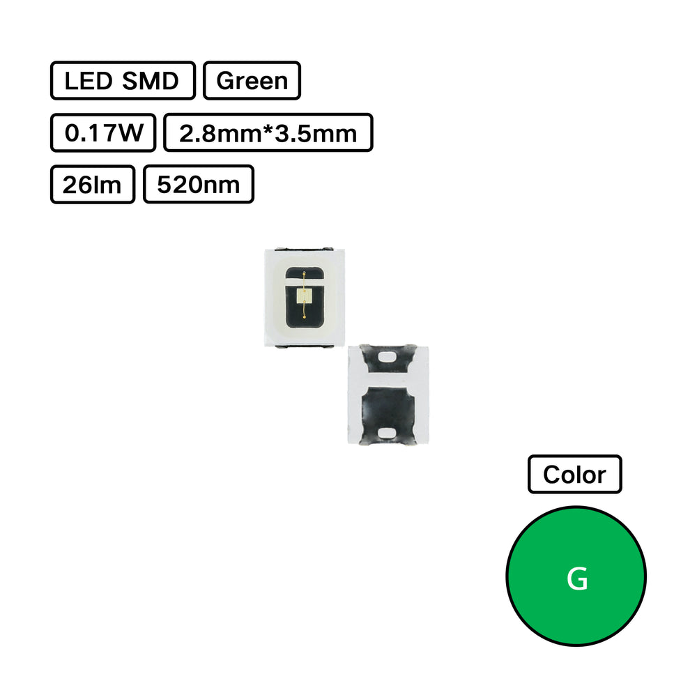Green 2835 LED SMD