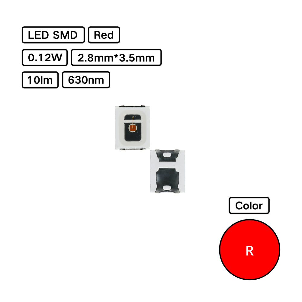 Red 2835 LED SMD