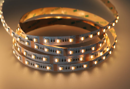 YUJILEDS® VarySpec™ 5-in-1 RGBWW High CRI 95+ 12V Full Gamut LED Strip