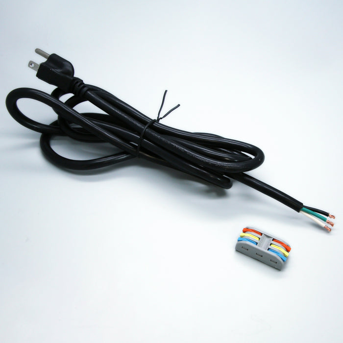 3-Prong Power Cord Kit with Lever Nut Connector