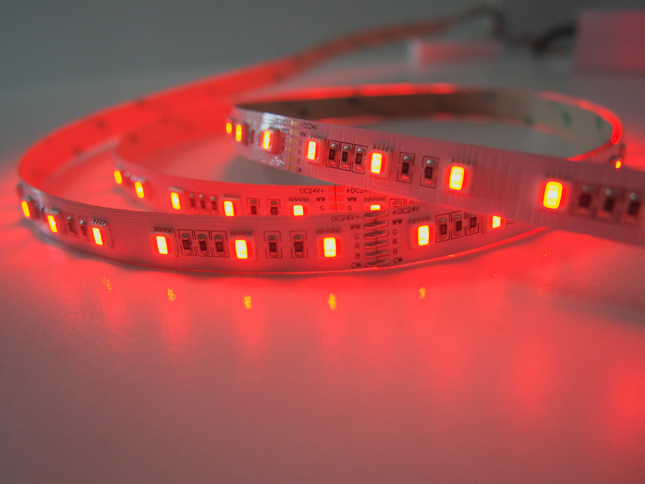 YUJILEDS® High CRI 95+ Full Gamut RGBWW 5-in-1 LED Flexible Strip for Photographic Lighting