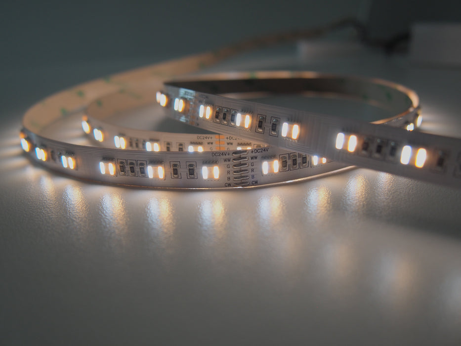 High CRI Full Gamut RGBWW 5-in-1 LED Flexible Strip - for Photographic Lighting