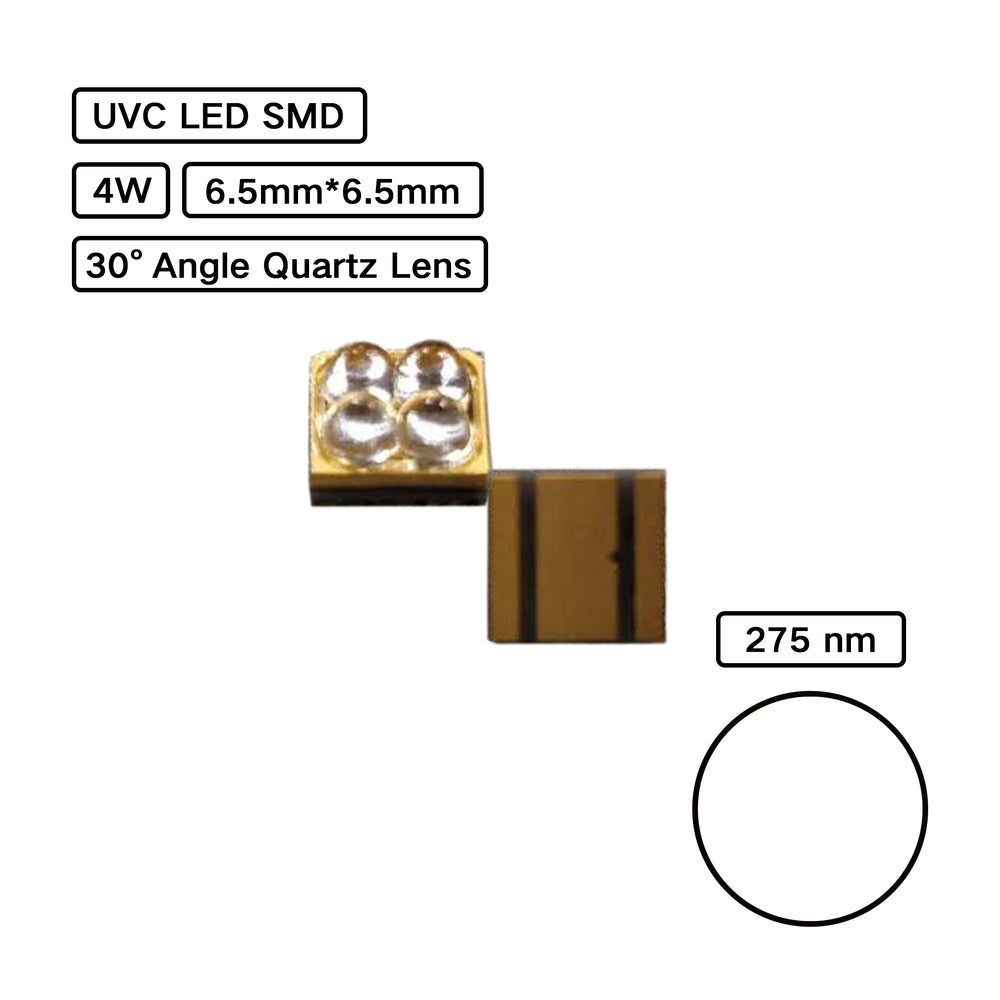 YUJILEDS® UVC Ultraviolet 4W High Power LED SMD for Disinfection Sterilization - Pack: 2pcs